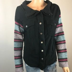 Free People Jacket 90s Grunge Embroidered Coat XS